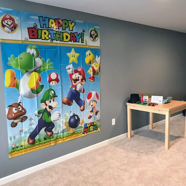 Super Mario Birthday Party - Photobooth Wall
