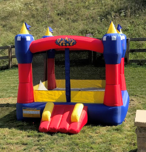 Super Mario Birthday Party - Castle Bounce House